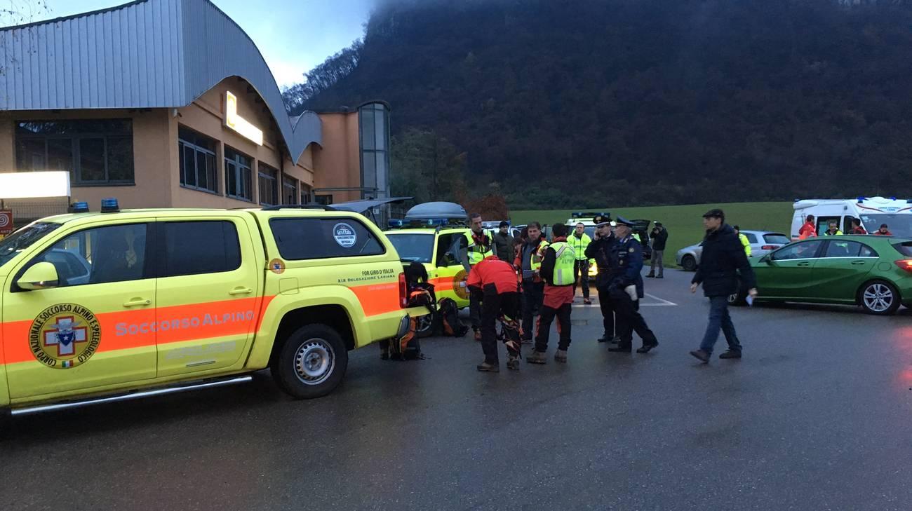 I soccorritori hanno localizzato le vittime in un'area a circa 700 metri di quota
