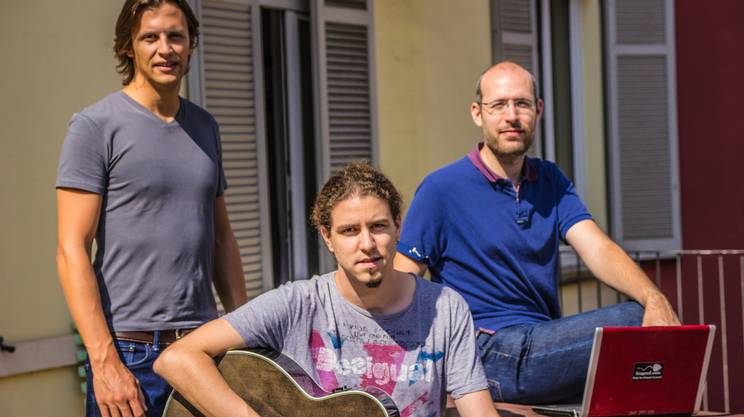 I tre fondatori: Martino Piccioli, Marco Alberti e Lorenzo Cimasoni