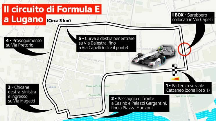 Il circuito di Formula E di Lugano omologato nel 2015
