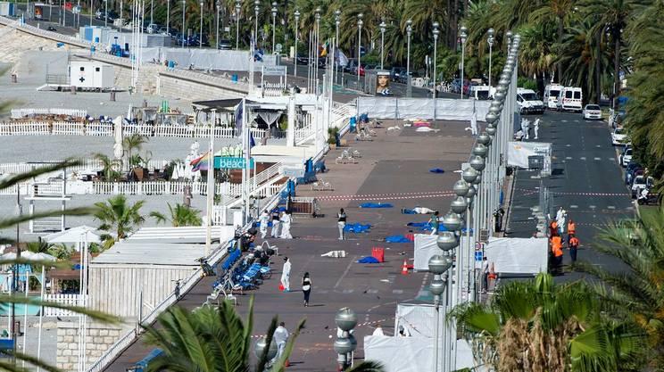 Il luogo della strage a Nizza
