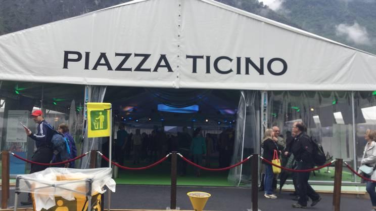 Il padiglione inaugurato a Pollegio
