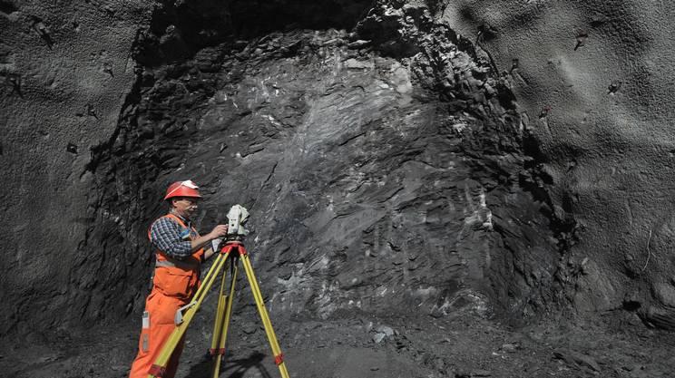 Il tunnel scavato da Sigirino verso nord, incontrerà quello scavato dal portale di Vigana