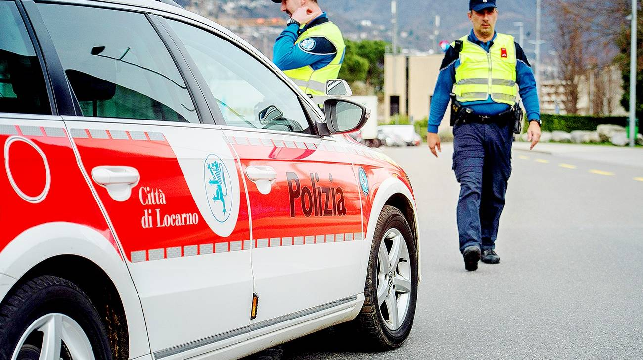 Intervento della polizia cantonale e di quella della città di Locarno