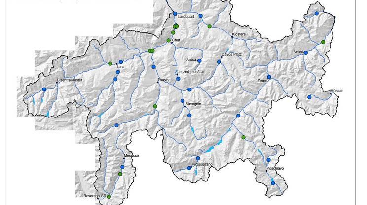 I 42 impianti di trattamento del canton Grigioni