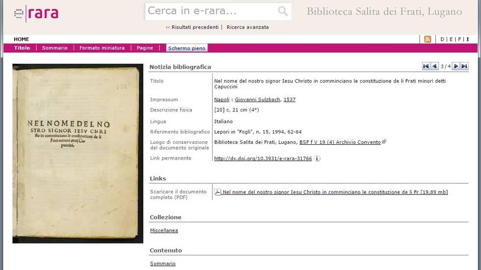 Alcuni dei libri digitalizzati consultabili online