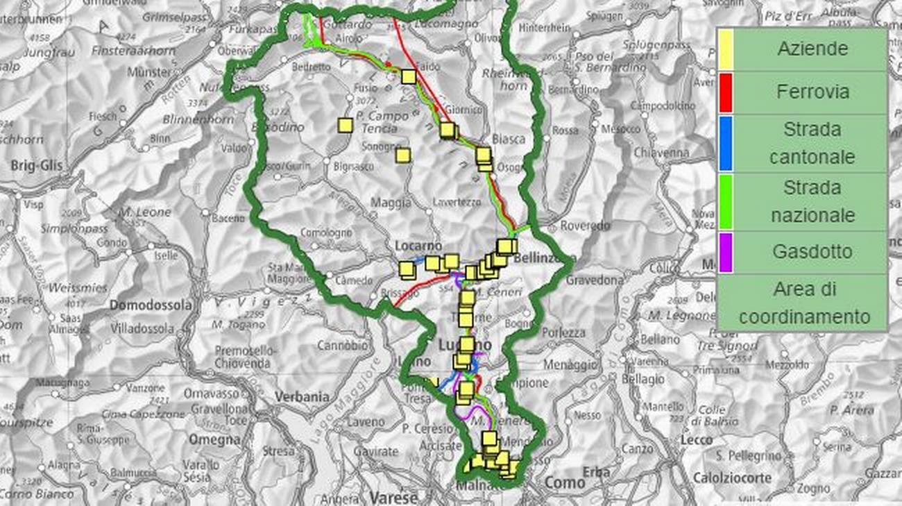 Cartina Canton Ticino Svizzera.Siti Sensibili A Catasto Rsi Radiotelevisione Svizzera