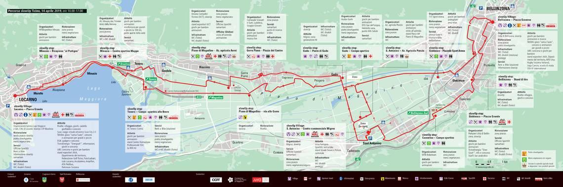 La mappa del percorso