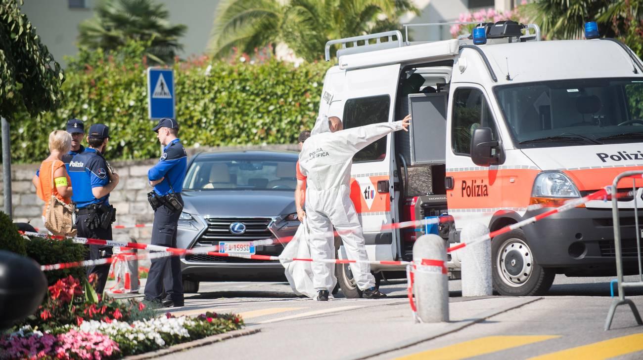 La polizia sul luogo del delitto
