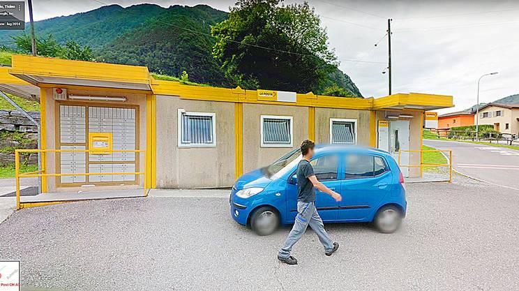 La sede dell'ufficio postale a Gordevio