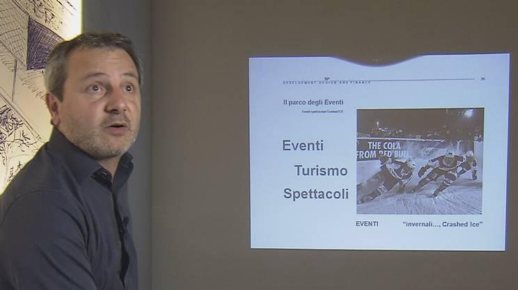 L'architetto Marco Giussani illustra alla RSI la sua iniziativa