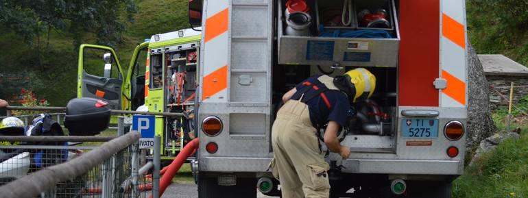 Le operazioni di soccorso e spegnimento