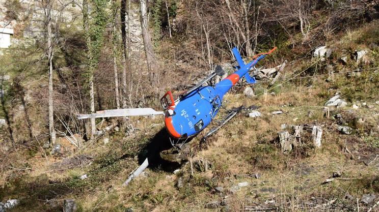 L'elicottero caduto ai monti di Gordola