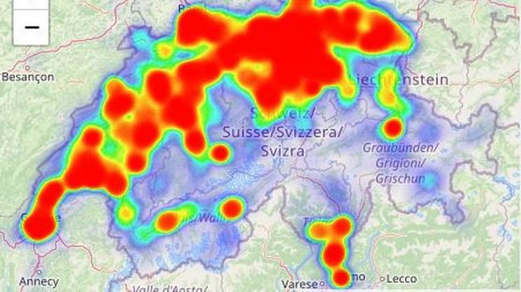 L'evento ha toccato praticamente ogni angolo della Svizzera