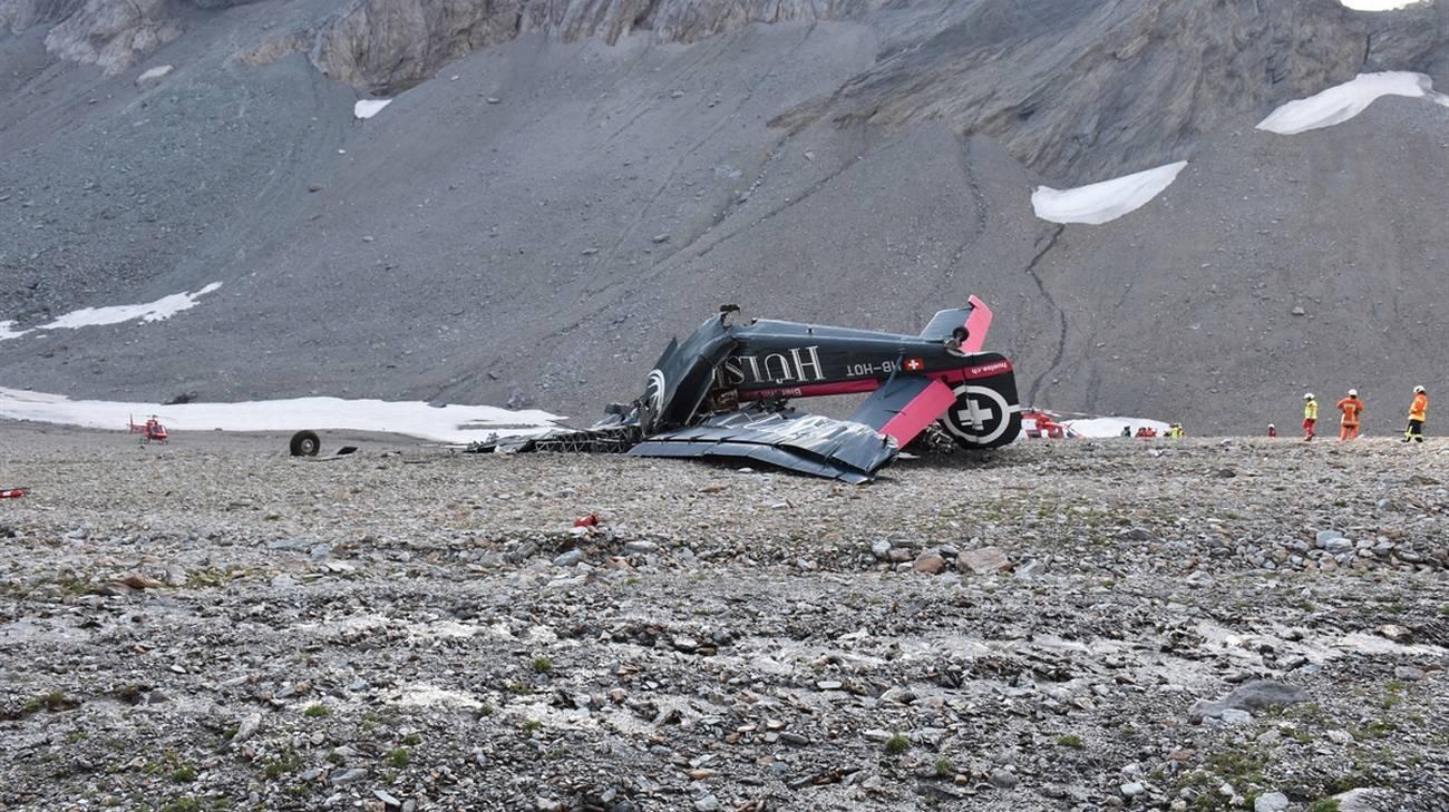 L'immagine dei resti dello storico velivolo