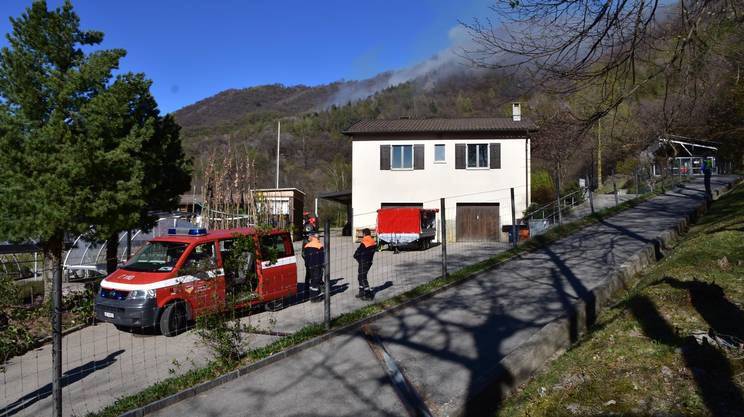 L'incendio boschivo ripreso dalla zona del vivaio forestale di Lattecaldo