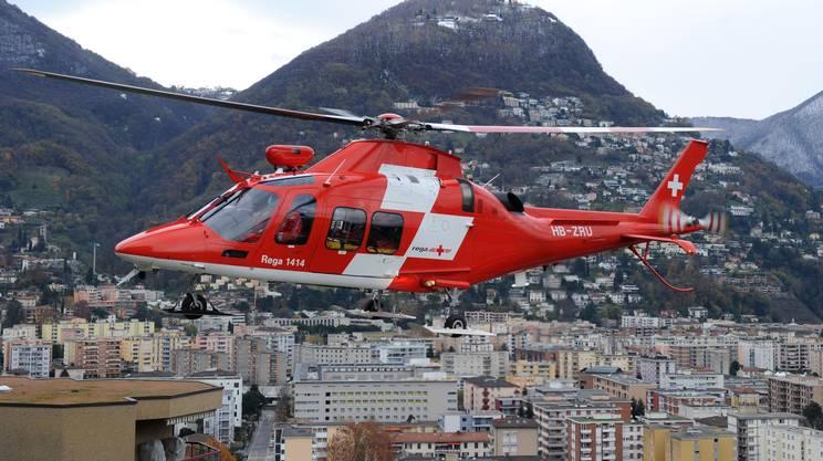 L'uomo è stato elitrasportato all'Ospedale Civico di Lugano. Foto d'archivio