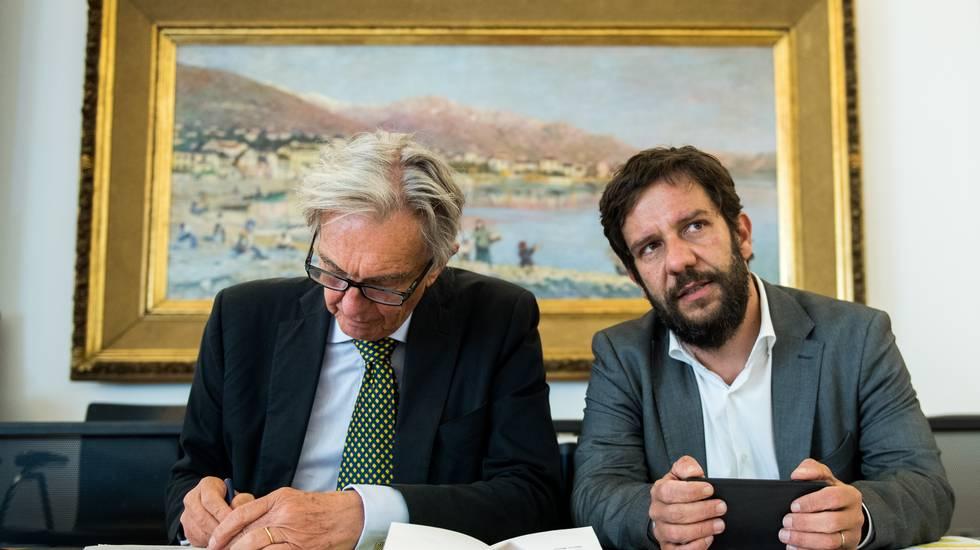 Mario Timbal e il presidente Marco Solari