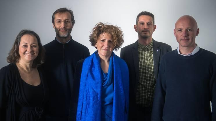 Nella foto da sinistra: Claudia Crivelli Barella, Marco Noi, Samntha Bourgoin, Andrea Stephani e Nicola Schönenberger