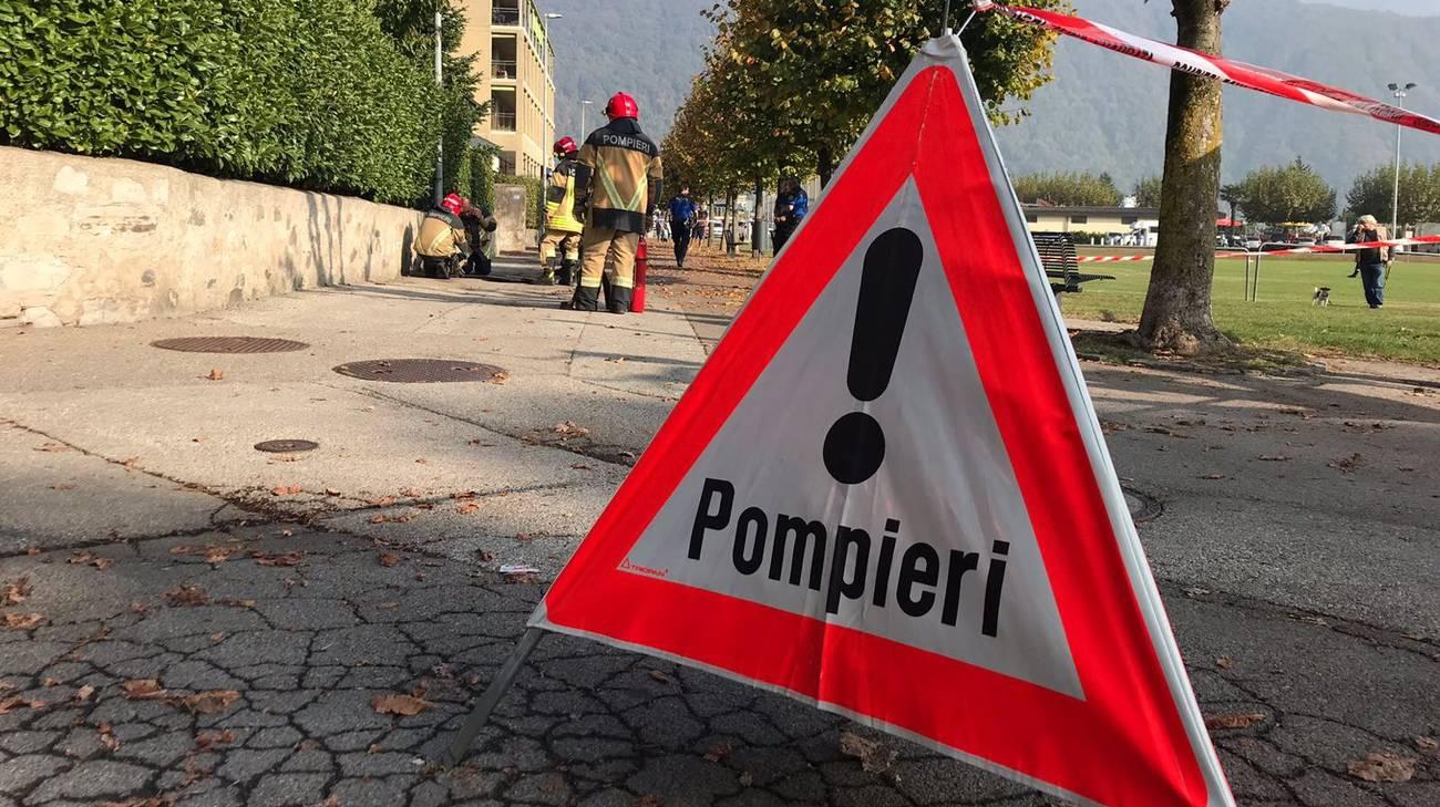Pompieri e agenti di polizia chiamati a intervenire