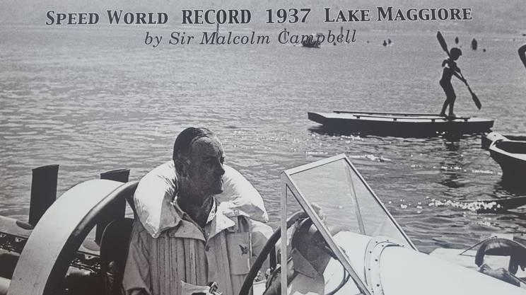 Sir Malcolm Campbell superò il primato due volte nel 1937