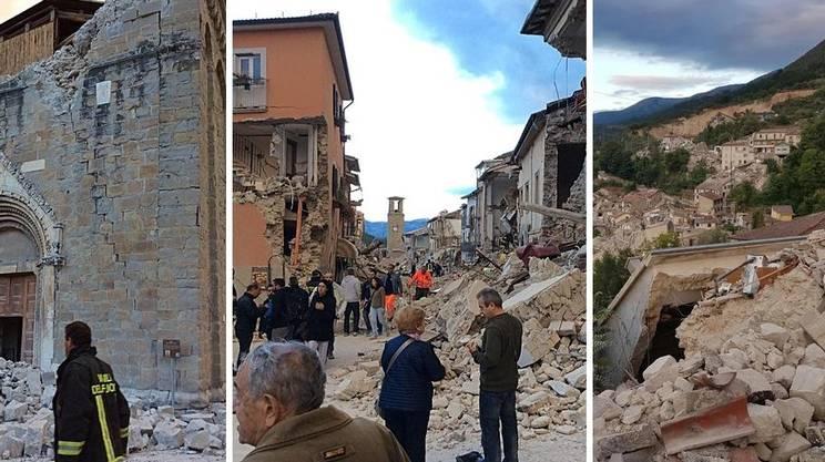 Sisma: Amatrice e Pescara del Tronto distrutte