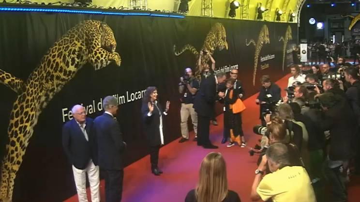 Stefania Sandrelli sul red carpet di Locarno
