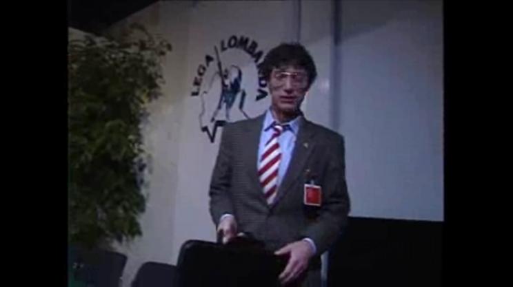 Umberto Bossi nel 1989