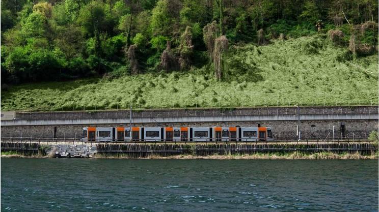 Un rendering di come saranno i futuri convogli attivi sulla tratta Lugano-Ponte Tresa