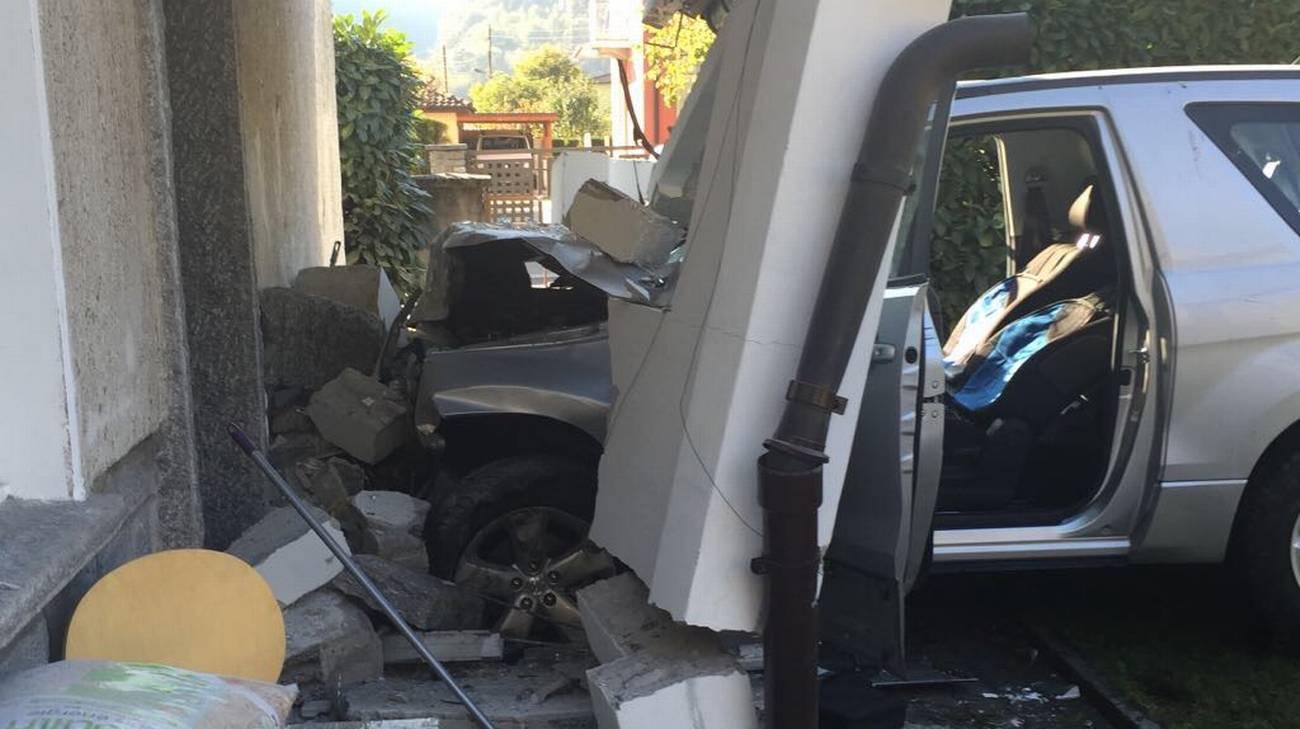 Un'immagine scattata sul luogo dell'incidente