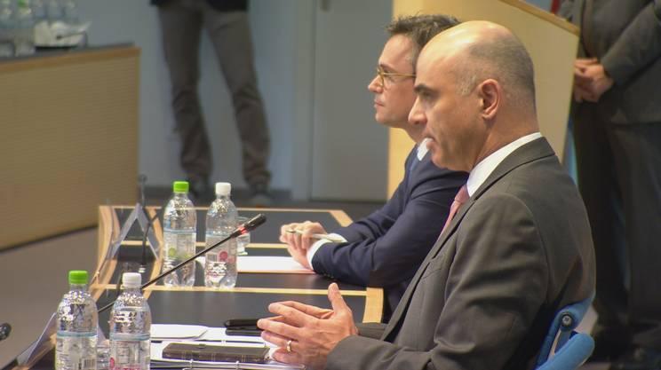 Vitta e Berset in conferenza stampa a Bellinzona