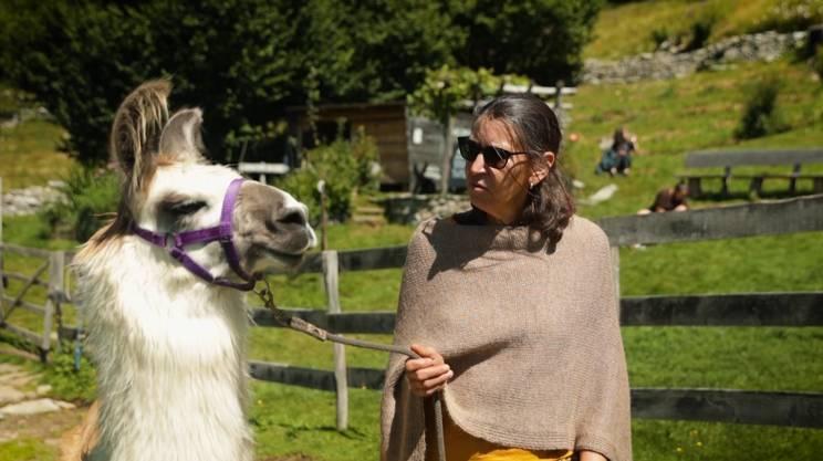 Marisa Bäschelin e uno dei suoi lama