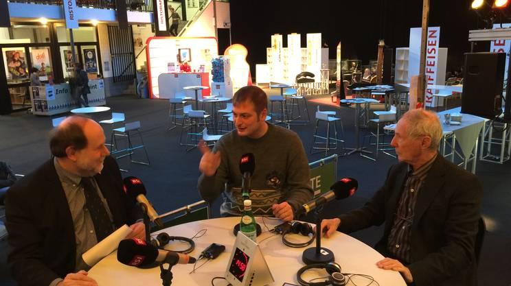 Giancarlo Zappoli, Marco Bonfanti e Bruno Bozzetto in diretta su Rete Due