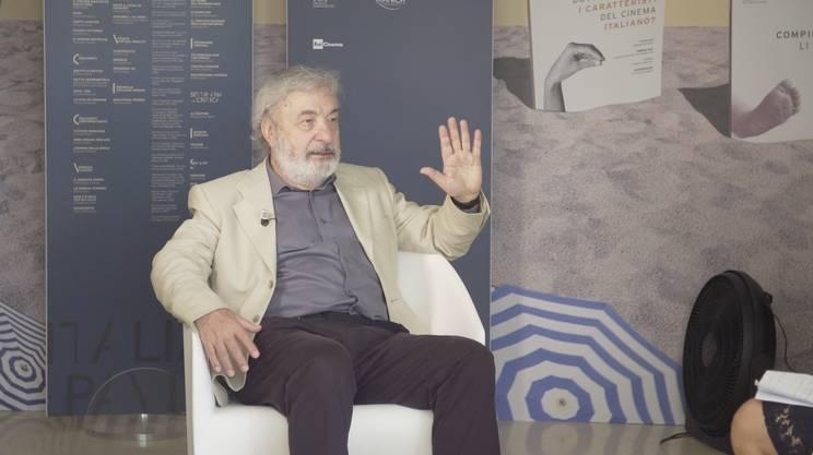 Gianni Amelio durante l'intervista