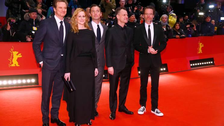 Il cast di Genius: Colin Firth, Laura Linney, Jude Law, il regista Michael Grandage e Guy Pearce
