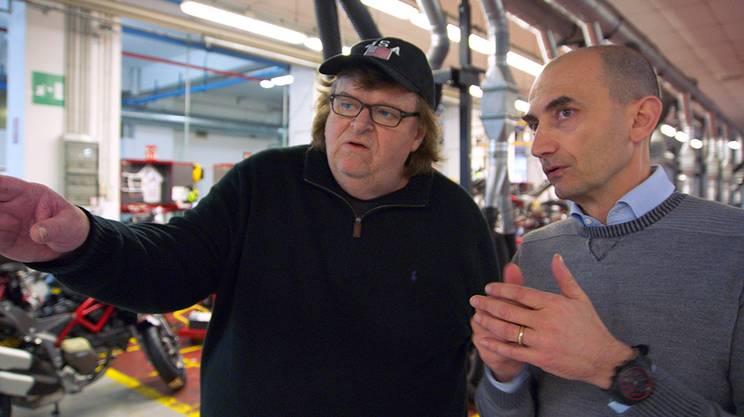 Moore con Domenicali in visita alla fabbrica della Ducati
