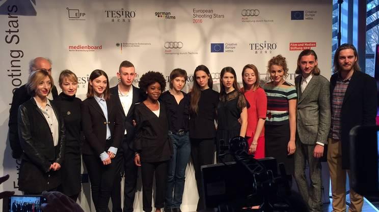 Quinto da sinistra nella foto di gruppo delle 12 Shooting Stars della Berlinale 2016
