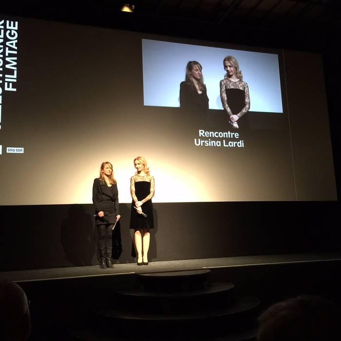 Seraina Rohrer e Ursina Lardi sul palco