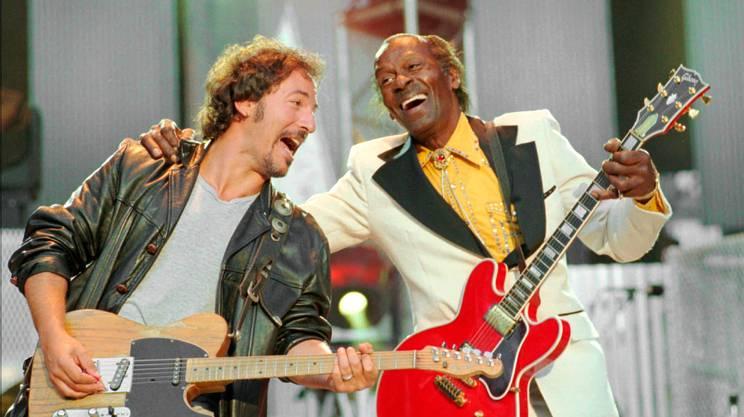 Chuck Berry con Bruce Springsteen, 1995