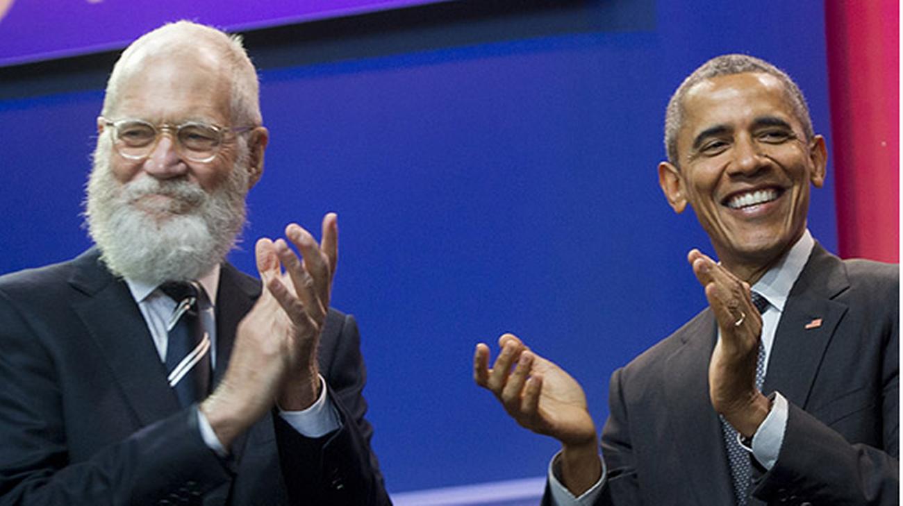 David Letterman e Barack Obama
