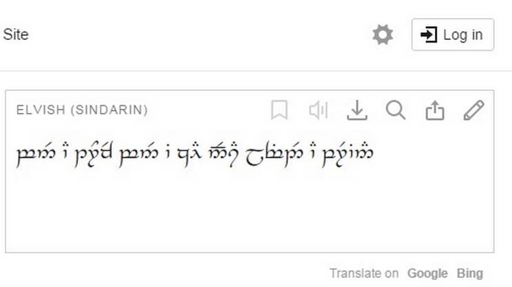 L'alfabeto Telwar potrebbe risultare ostico per gli utenti occasionali