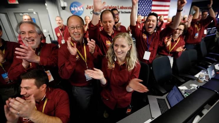 Gioia alla NASA