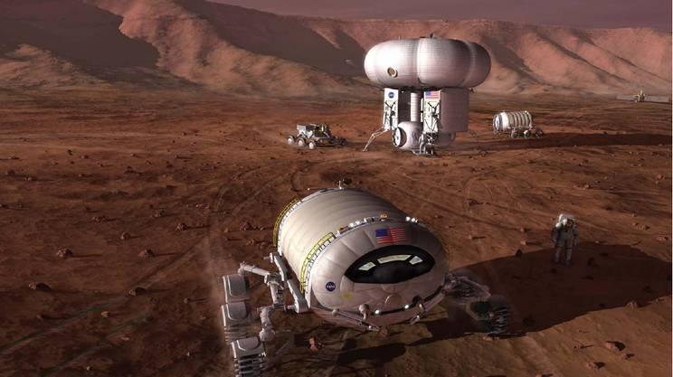 Un possibile esempio di avamposto di esplorazione su Marte
