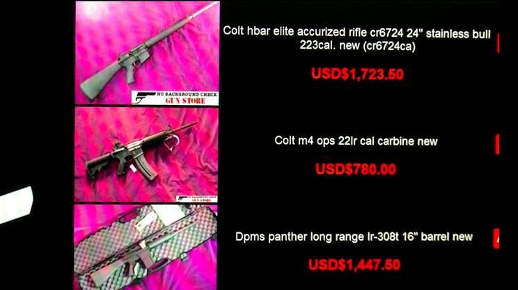 Un sito che sostiene di vendere armi sul Dark Web: pistole e fucili di ogni tipo