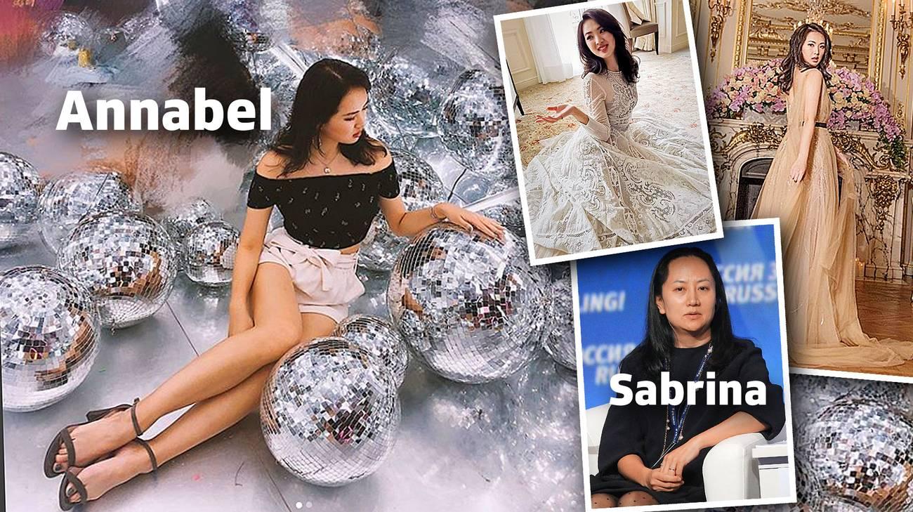 Annabel Yao e la sorella Sabrina Meng Whanzou, arrestata in Canada