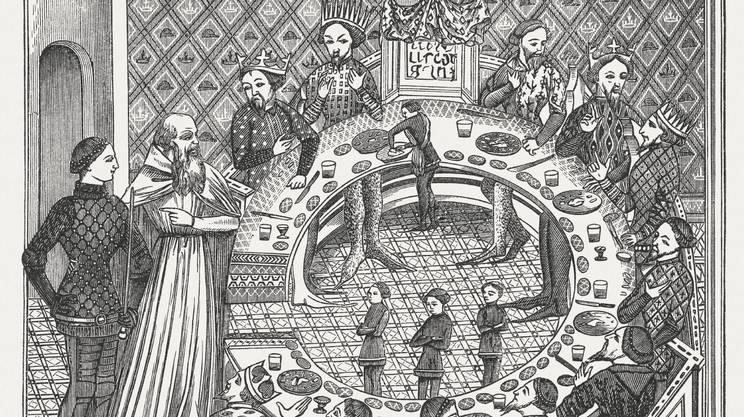 La letteratura profana nell arte medievale rsi - Re artu e i cavalieri della tavola rotonda trama ...