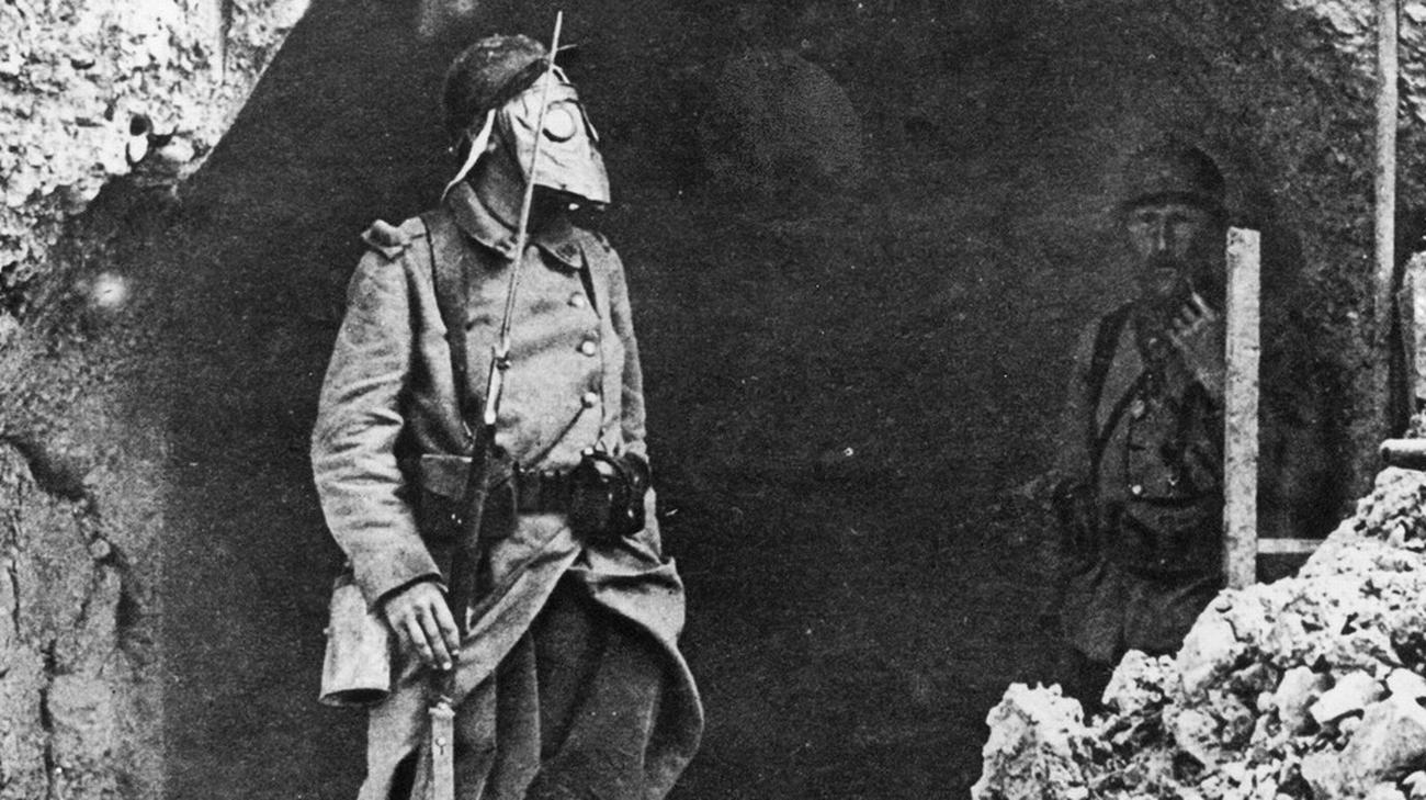 Soldato in trincea - Francia 1916