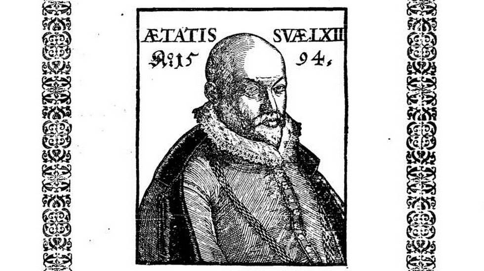 Particolare del frontespizio dell'edizione del 1595 (Cantar di Pietre/Bayerische Staatsbibliothek)
