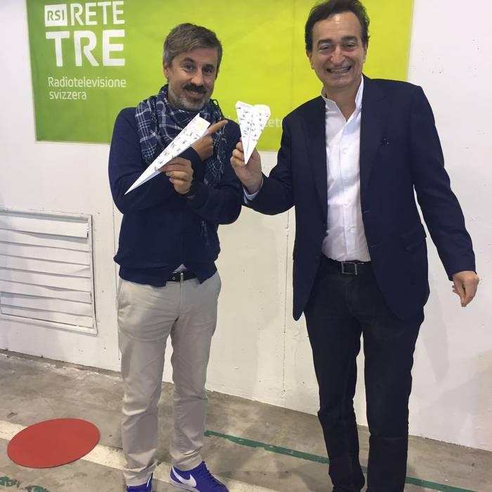 Sportissima 2017 - Lugano - Lancio dell'aeroplanino di carta