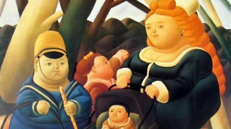 Bambini ricchi di Fernando Botero, obesità, infantile