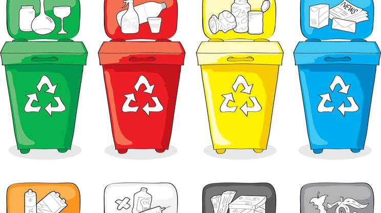 Cestini riciclaggio dei materiali